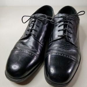Nunn Bush Mens Black Cap Toe Dress  Shoes  Sz 10.5